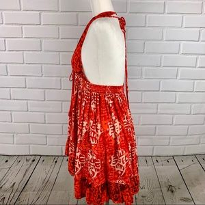 Free People Dresses - FREE PEOPLE Beach Day Mini Dress Backless Red NWT
